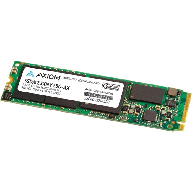 Axiom C2110n 250 GB Solid State Drive - M.2 2280 Internal - PCI Express NVMe (PCI Express NVMe 3.0 x4) - TAA Compliant