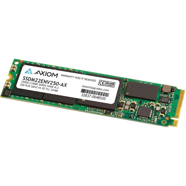 Axiom C3400e 250 GB Solid State Drive - M.2 2280 Internal - PCI Express NVMe (PCI Express NVMe 3.0 x4) - TAA Compliant
