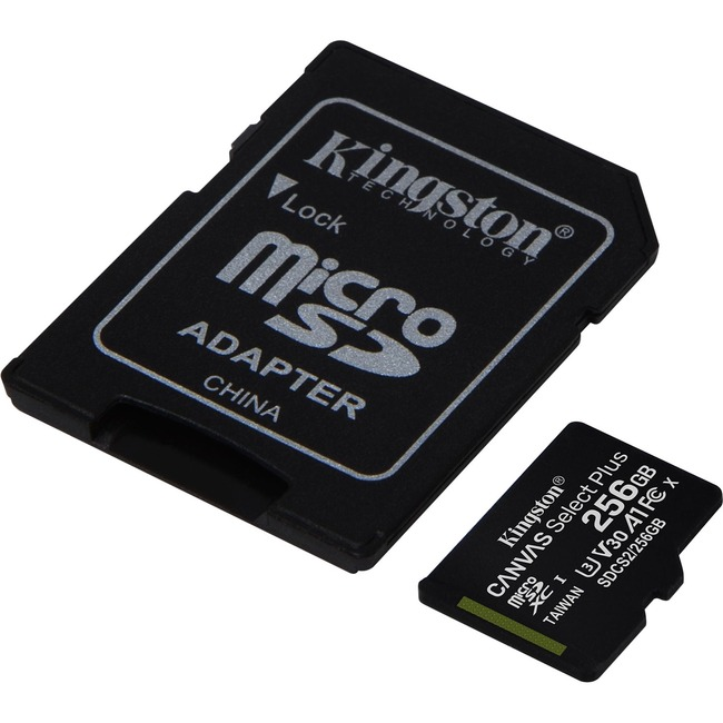 256GB micSDXC Canvas Select Plus 100R A1 C10 Card + ADP