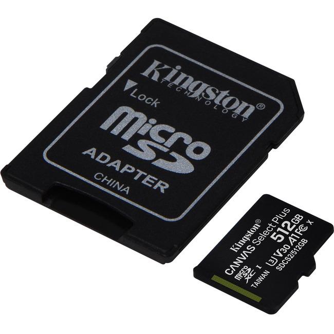 512GB micSDXC Canvas Select Plus 100R A1 C10 Card + ADP