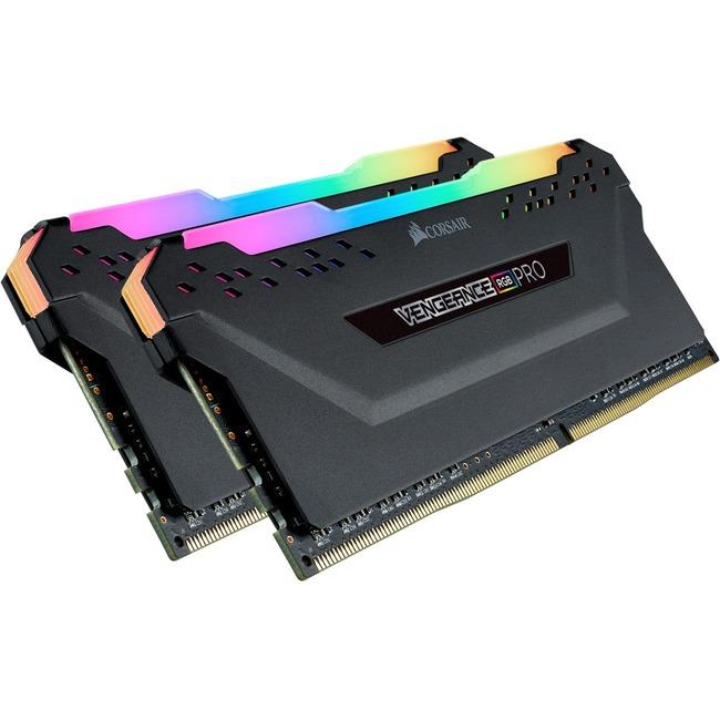 CORSAIR Vengeance RGB Pro 32GB (2x16GB) DDR4 3600MHz CL18 Black Desktop Memory Kit (CMW32GX4M2D3600C18)
