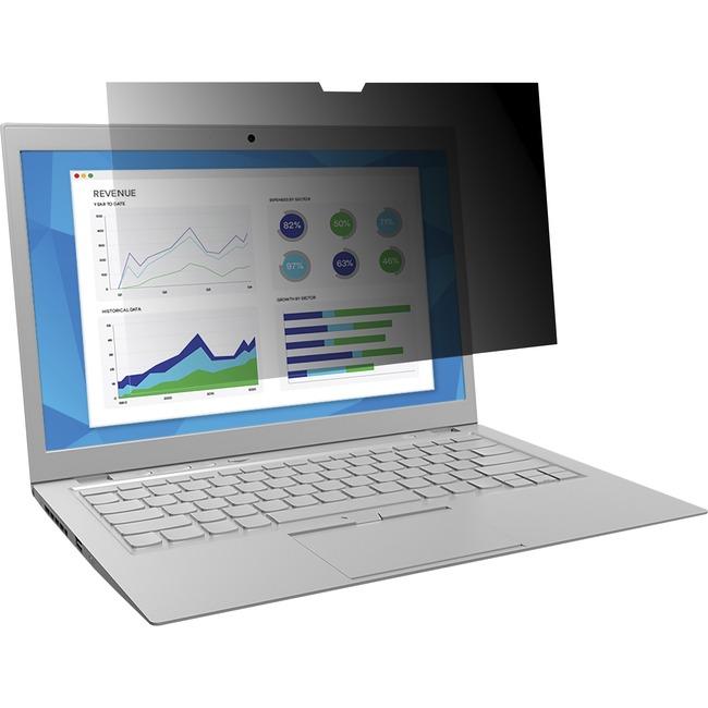"3M Privacy Screen Filter Black, Matte - For 16"" Widescreen LCD MacBook Pro - 16:10 - Scratch Resistant, Fingerprint Resistant, Dust Resistant"