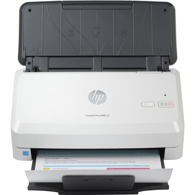HP ScanJet Pro 2000 s2 Sheetfed Document Scanner - 600 dpi Optical - Duplex Scanning - USB - up to 35 ppm/70 ipm and 50-page ADF