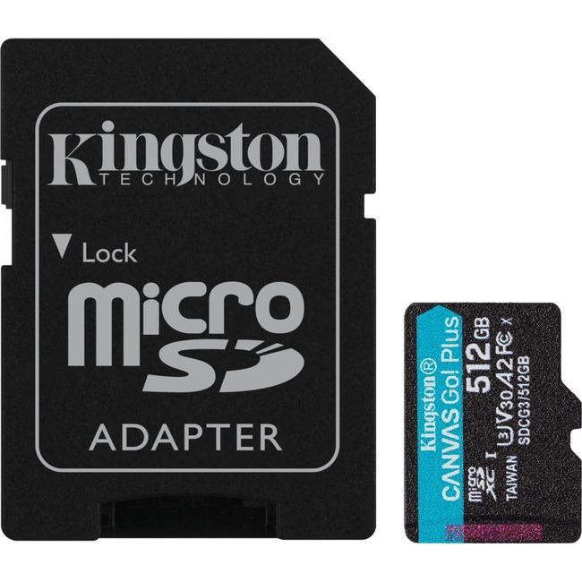 512GB MSDXC CANVAS GO PLUS 170R A2 U3 V30 CARD + ADAPTER