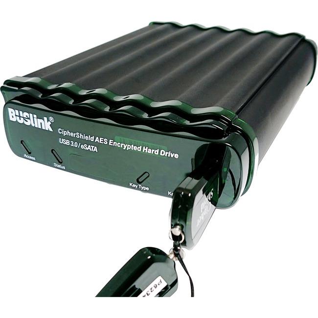 18TB BUSLINK CIPHERSHIELD USB 3.0/ESATA 3.5IN SINGLE KEY FIPS140-2 LEVEL 2 HIPAA