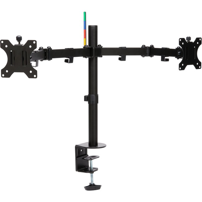 Finding the correct ergonomic height for your monitors and adjusting their distance is easy, thanks to the sturdy, stable, SmartFit Ergo Dual Extended Monitor Arm. Clear valuable desk space while improving ergonomics. Wide adjustment range delivers 90