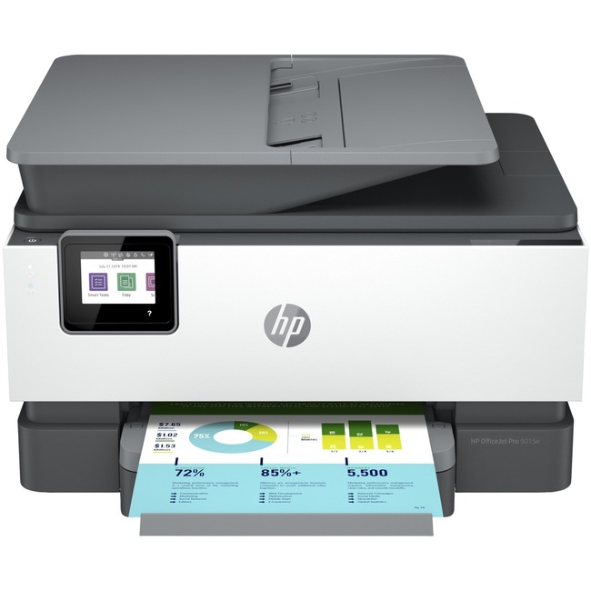 HP Officejet Pro 9015e Inkjet Multifunction Printer - Color - Copier/Fax/Printer/Scanner - 32 ppm Mono/32 ppm Color Print - 4800 x 1200 dpi Print - Automatic Duplex Print - Upto 25000 Pages Monthly - 250 sheets Input - Color Flatbed Scanner - 1200 dpi Opt