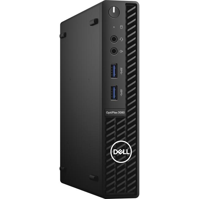 Dell OptiPlex 3080 CORE_I5_10-10500T 8GB (1DIMMS) 128GB SS WLS W10 MFF