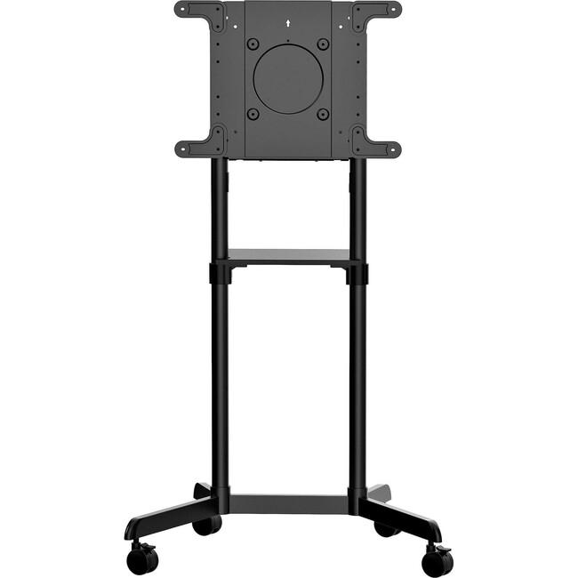 Mobile TV Cart, Portable Rolling TV Stand, 37-70 inch VESA Display Mount (154lb/70kg), Shelf & Storage, Rotate/Tilt Display