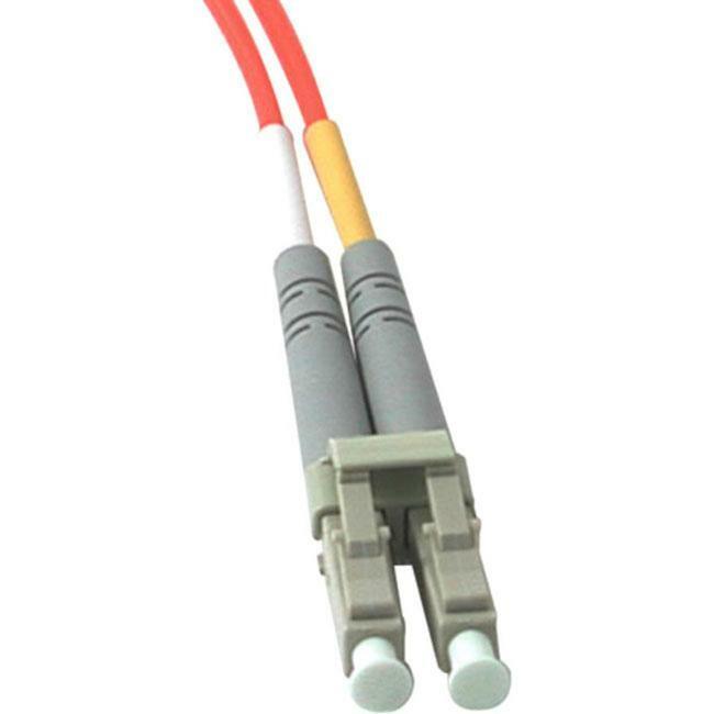 15m LC-LC 62.5/125 OM1 Duplex Multimode PVC Fiber Optic Cable | Orange