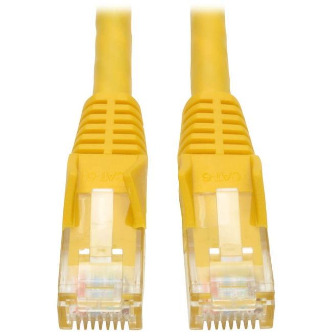 Tripp Lite 5ft Cat6 Gigabit Snagless Molded Patch Cable RJ45 M/M Yellow 5'
