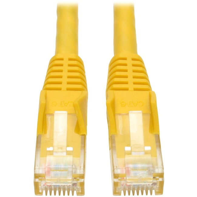 Tripp Lite 25ft Cat6 Gigabit Snagless Molded Patch Cable RJ45 M/M Yellow 25'