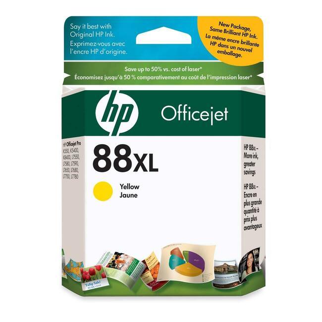 HP INC. - INK 88 LARGE YELLOW INK CARTRIDGE F/ OFFICEJET PRO K550 SERIES