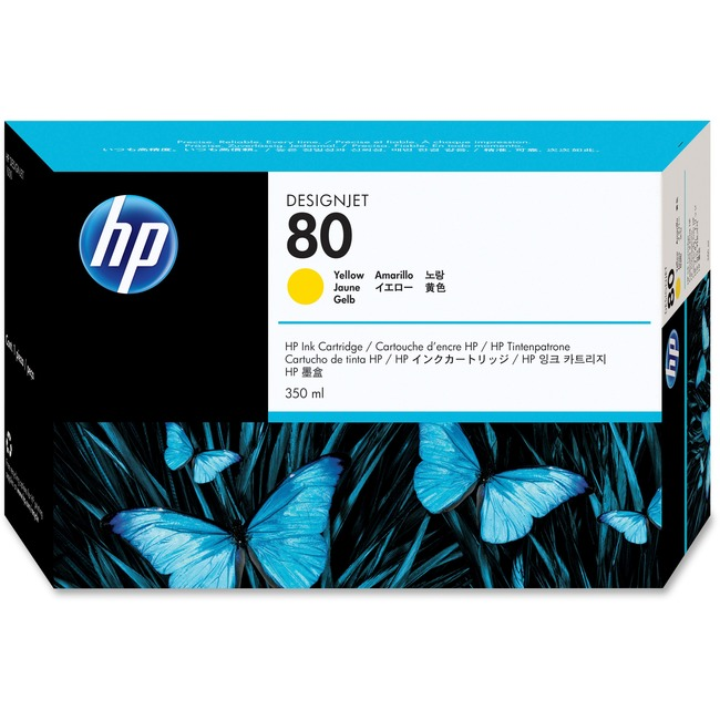 HP No. 80 Yellow 4400 Page Ink Cartridge