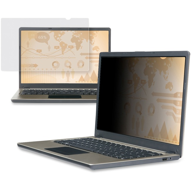 """3M PF15.4W Privacy Filter for Widescreen Laptop 15.4"""" Black"""
