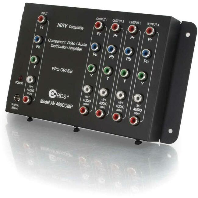 C2G 4-Output Component Video + Stereo Audio Distribution Amplifier