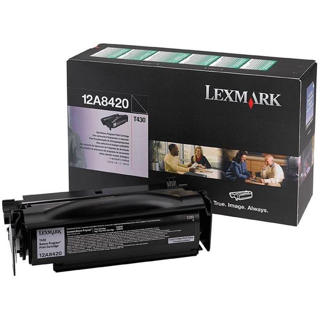 Toner cartridge - black - 6000 pages - for Lexmark T430