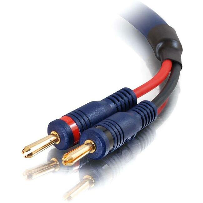 Speaker Wire and Connectors - Banana - Male - Banana - Male - 10 feet - Blue