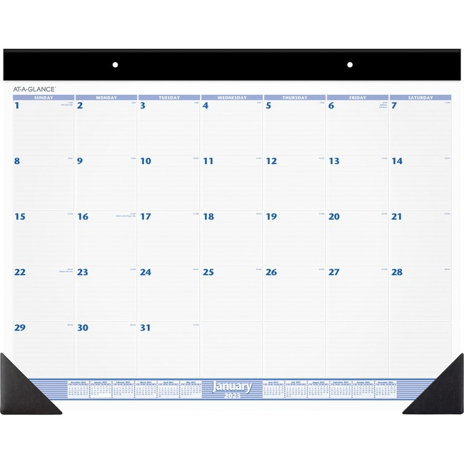 At-A-Glance Monthly Two-color Desk Pad