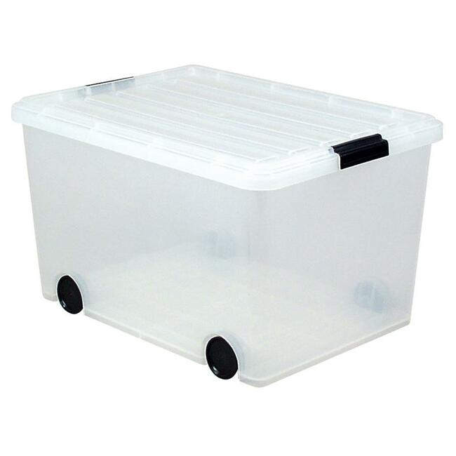 Great Clear Storage Box With Wheels