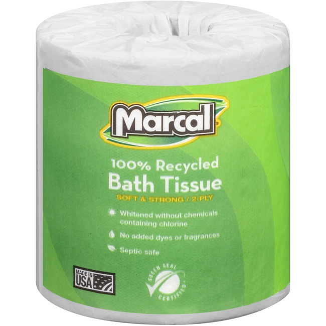 Marcal 100% Recycled, Soft & Absorbent Bathroom Tissue