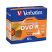 Verbatim DVD-R 4.7GB 16X UltraLife Gold Archival Grade with Branded Surface and Hard Coat - 5pk Jewel Case - 4.7GB - 5 Pack