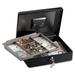 "Sentry Safe CB-12 Safebox - 5.66 L - Key Lock - Internal Size 3"" x 11.7"" x 9"" - Overall Size 3.7"" x 11.8"" x 9.3"" - Black"