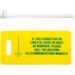 Panduit LTYK Rack Grounding Yellow Tag Kit - Yellow - 10 Pack