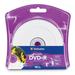 Verbatim DVD+R 4.7GB 16X White Inkjet Printable with Branded Hub - 10pk Blister - Inkjet Printable