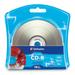 Verbatim CD-R 700MB 52X Silver Inkjet Printable with Branded Hub - 10pk Blister - Printable - Inkjet Printable