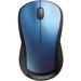 Logitech Wireless Mouse M310 - Laser - Wireless - Radio Frequency - Blue - USB - Scroll Wheel - Symmetrical