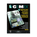 "Gemex Business Card Holder - 20 x Card Capacity - For Letter 8 1/2"" x 10 63/64"" Sheet - Ring Binder - Rectangular - Clear - Polypropylene - 5 / Pack"