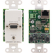 Kramer WP-301xl Faceplate Insert - 1-gang - White - 1 x Mini-phone Port(s) - 1 x RJ-45 Port(s) - 1 x VGA Port(s)