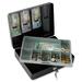 "Sentry Safe DCB-1 Locking Cash Box - 6.10 L - Key Lock - Overall Size 3.5"" x 11.8"" x 9.3"" - Black"