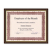 "First Base Recognition Certificate Frame - 9.50"" x 12"" Frame Size - Holds 8.50"" x 11"" Insert - Desktop - Vertical, Horizontal - 1 Each - Tuscan Cherry"