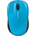 Microsoft Wireless Mobile Mouse 3500 - BlueTrack - Wireless - Radio Frequency - Cyan Blue - USB 2.0 - 1000 dpi - Scroll Wheel - 3 Button(s) - Symmetrical