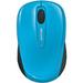 Microsoft Wireless Mobile Mouse 3500 - BlueTrack - Wireless - Radio Frequency - 2.40 GHz - Cyan Blue - USB 2.0 - 1000 dpi - Scroll Wheel - 3 Button(s) - Symmetrical