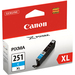 Canon CLI-251XL Original Ink Cartridge - Cyan - Inkjet - High Yield - 665 Pages - 1 Pack