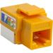 4XEM Cat5e RJ45 Keystone Jack UTP 110-Type (Yellow) - Yellow - 1 x RJ-45 Port(s)