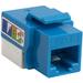 4XEM Cat6 RJ45 Keystone Jack UTP 110-Type (Blue) - Blue - 1 x RJ-45 Port(s)