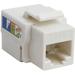 4XEM Cat6 RJ45 Keystone Jack UTP 110-Type (White) - White - 1 x RJ-45 Port(s)