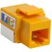 4XEM Cat6 RJ45 Keystone Jack UTP 110-Type (Yellow) - Yellow - 1 x RJ-45 Port(s)