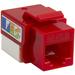 4XEM Cat6 RJ45 Keystone Jack UTP 110-Type (Red) - Red - 1 x RJ-45 Port(s)
