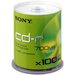 Sony 100CDQ80SP CD Recordable Media - CD-R - 48x - 700 MB - 100 Pack Spindle - 120mm - 1.33 Hour Maximum Recording Time