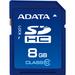 Adata Premier 8 GB SDHC - Class 10/UHS-I - 50 MB/s Read - 33 MB/s Write - 1 Card - Retail