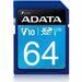 Adata Premier 64 GB SDXC - Class 10/UHS-I - 50 MB/s Read - 33 MB/s Write - 1 Card - Retail