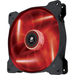 Corsair Air Series AF140 LED Red Quiet Edition High Airflow 140mm Fan - 1 x 140 mm - Plastic
