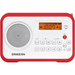 Sangean PR-D18 Desktop Clock Radio - 1 W RMS - Mono - 2 x Alarm - FM, AM - Manual Snooze