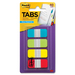 "Post-it® Durable Filing Tabs - 40 Write-on Tab(s) - 1.50"" Tab Height x 0.62"" Tab Width - Assorted Tab(s) - 40 / Pack"