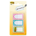 "Post-it® Assorted Colours 1"" Writable Flag - 1"" x 1.70"" - Arrow - Bright Assorted - Writable, Repositionable, Removable - 66 / Pack"
